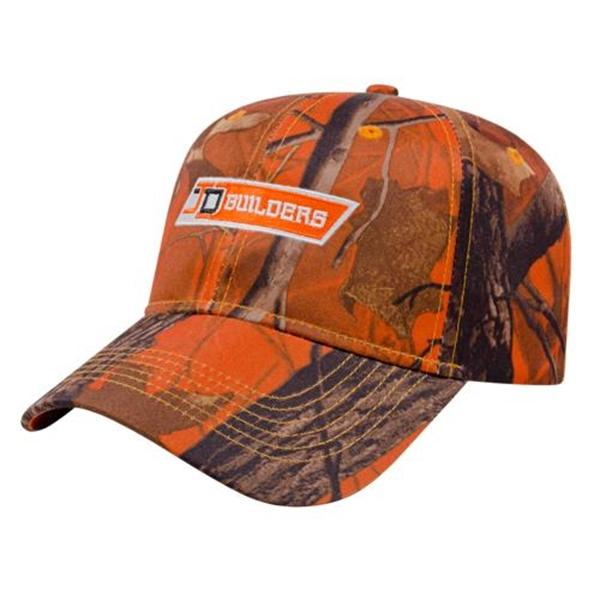 Orange Ridge Camo Cap
