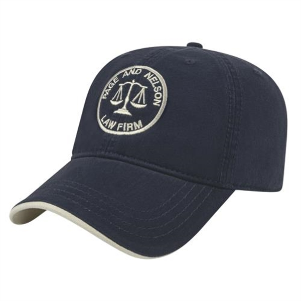 Two-Tone Ultra Brushed Cotton Cap