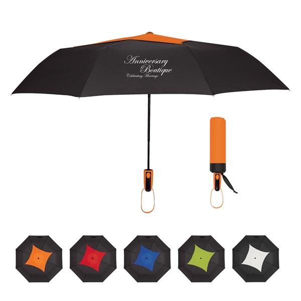 """44"""" Arc Telescopic Diamond Top Vented Umbrella"""