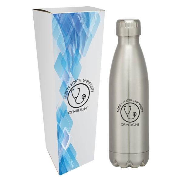 16 Oz. Swiggy Stainless Steel Bottle With Custom Box