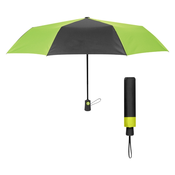 "43"" Arc Duet Colors Telescopic Folding Umbrella"