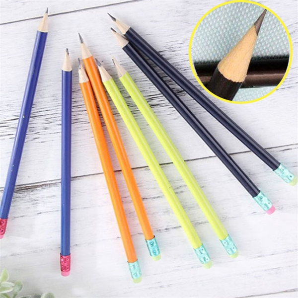 7 inches log wooden pencils painted in colors