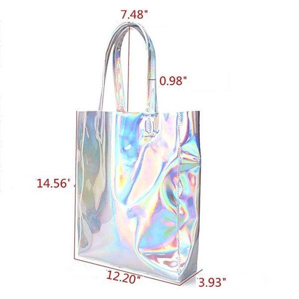Laser PU Silver Shoulder Bags