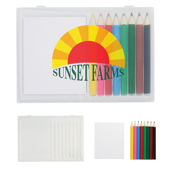 8-Piece Colored Pencil Art Set In Case