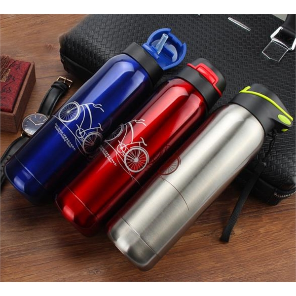 Fashion new portable adult sports straw insulation cup