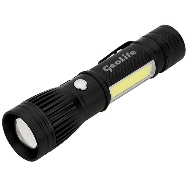 Channel LED / COB Rechargeable Flashlight