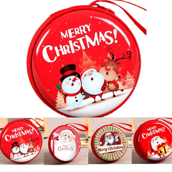 Christmas Design of Tinplate Coin Purse Gift