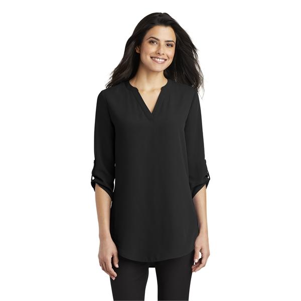 Port Authority Ladies 3/4-Sleeve Tunic Blouse.