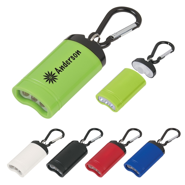 Quick Release Magnetic Flashlight with Carabiner