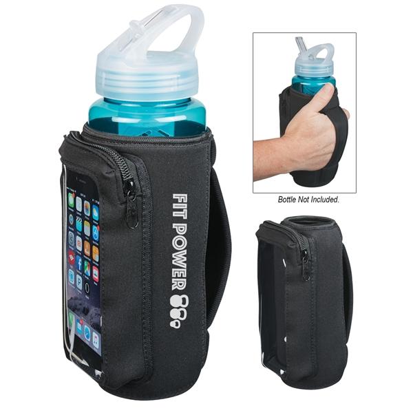 Neoprene Bottle Kooler With Phone Holder