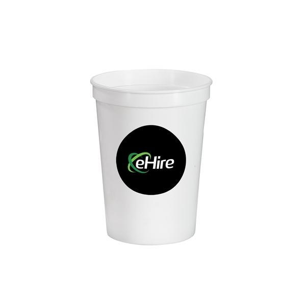12 oz.Full Color Stadium Cup -White