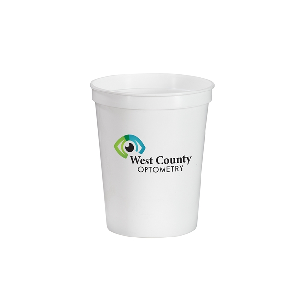 16 oz. Full Color Stadium Cup - White