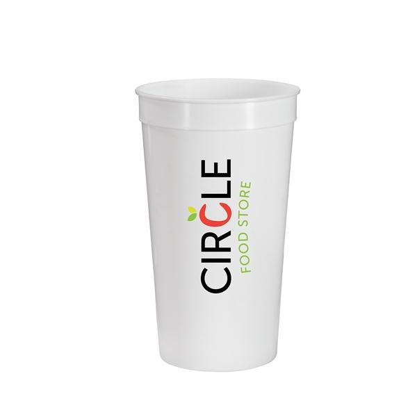32 oz. Full Color Stadium Cup - White