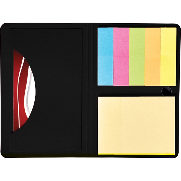 Sticky Notes with Business Card Holder