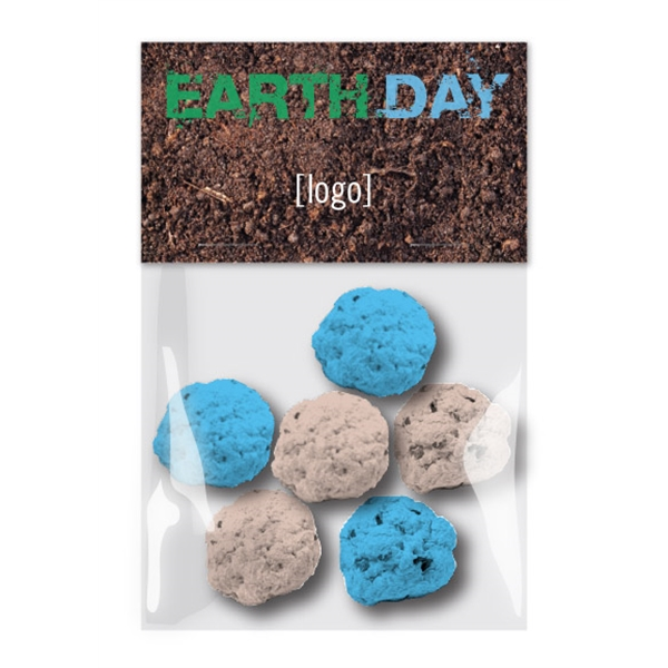 Earth Day Seed Bomb Cello Pack - 6 Bombs