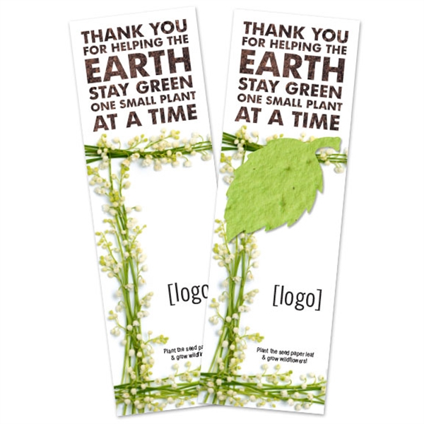 Small Seed Paper Earth Day Bookmark (1.75x5.5)