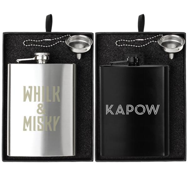 Oakhurst 8 oz. Flask and Funnel Gift Set