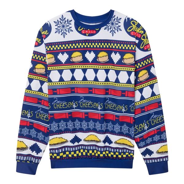 Crewneck Sweatshirt with Allover Print