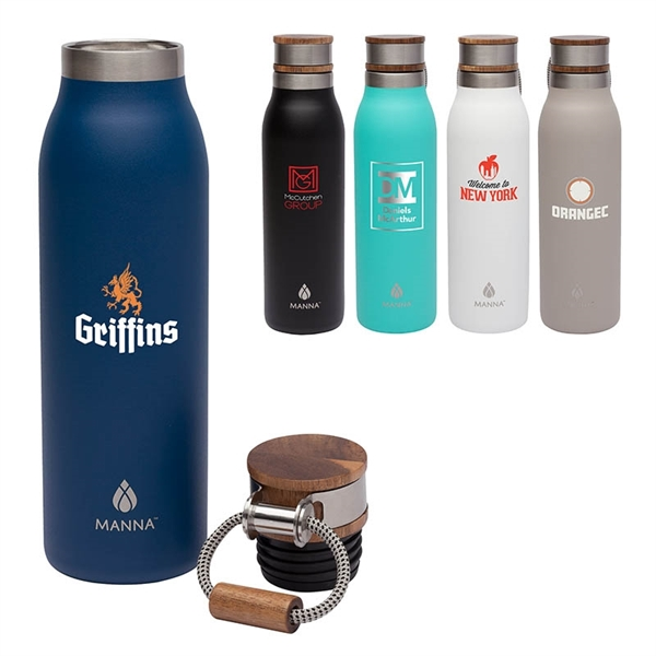Manna™ Ascend 18 oz. Stainless Steel Water Bottle w/ Acac...