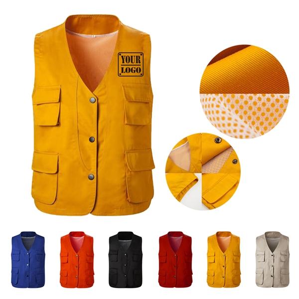 Button Work Vest