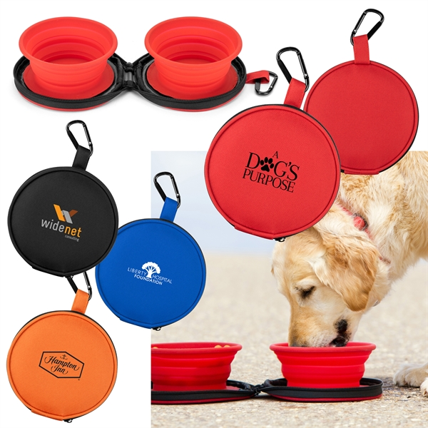 Mocha Collapsible Bowls with case