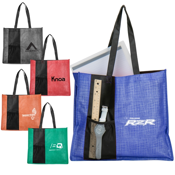 Cross Hatch Tote Bag