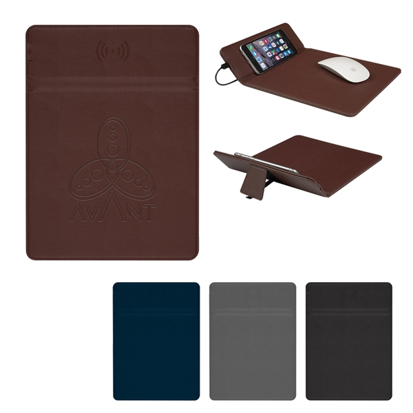 Wireless Charging Mouse Pad With Phone Stand