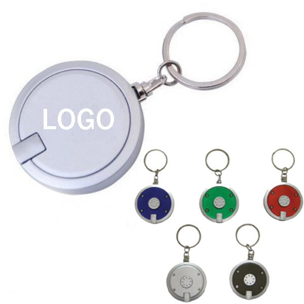 Round LED Light Promotional Key Tag