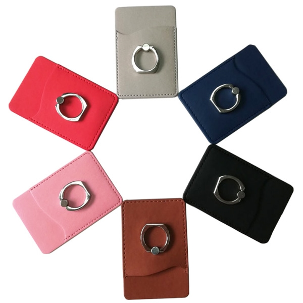 Cell Phone Wallet With Ring Phone Stand
