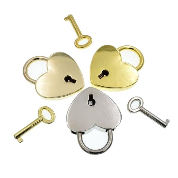 Heart Shape Pad Lock With Key