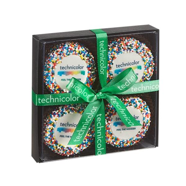 Elegant Belgian Chocolate Custom Oreo® 4 Way Gift Box