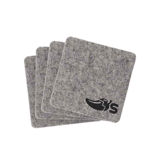 LINDEN Set of 4 Felt Coasters