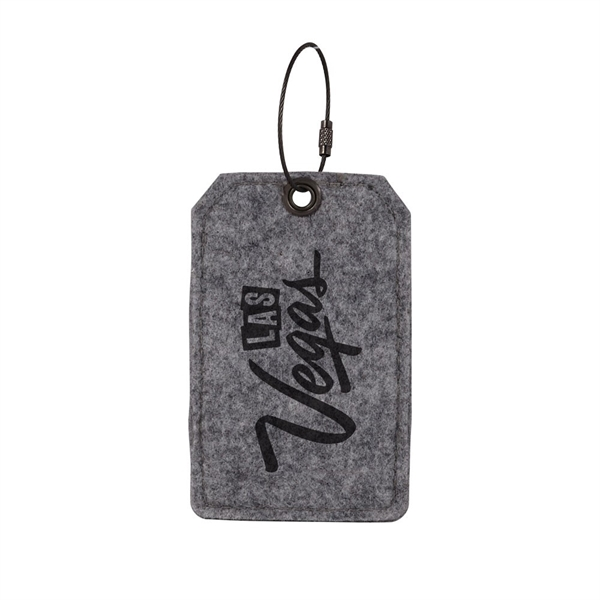 TPOPLAR Felt Luggage Tag