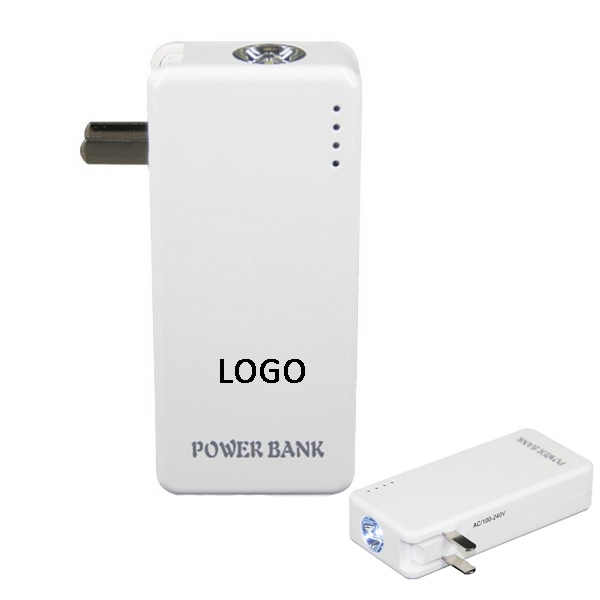 5000mAh Power Bank With Flashlight