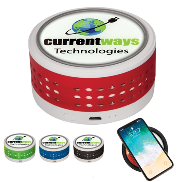 Wireless Charger w/ Bluetooth Speaker