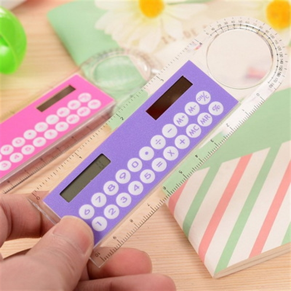 Solar Multifunctional Calculator with Ruler Magnifier