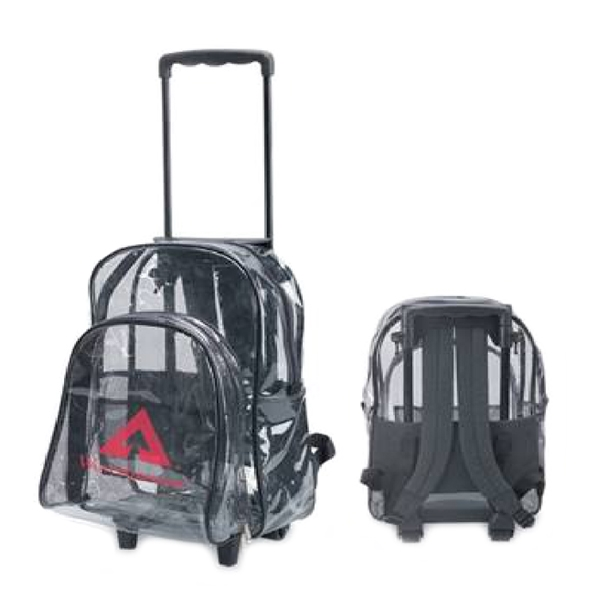 Clear Backpack with Wheels