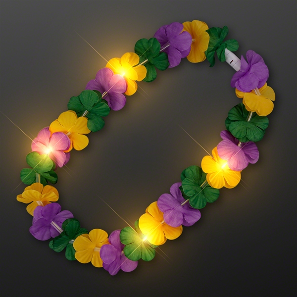 Mardi Gras Lei Light Up Flower Necklace