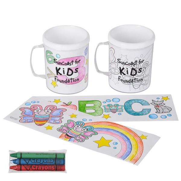 8 oz Mug & Crayon Set