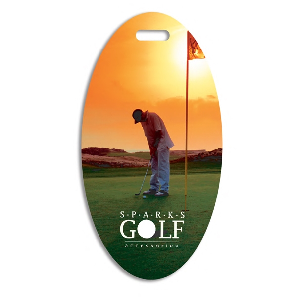 Oval Golf Bag Tag