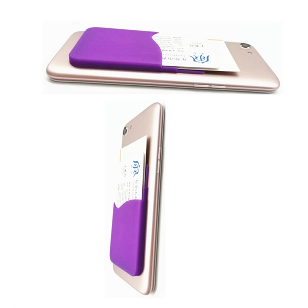 Silicone Phone Wallet with double pocket