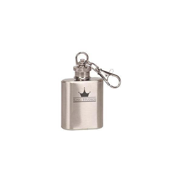 1oz Stainless Steel Flask Keychain