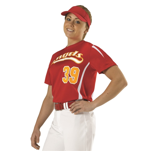 Alleson Athletic Girls' Fast-Pitch Crew Neck Jersey