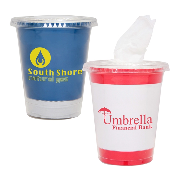Tissue Cup - Tissue Cup that fits perfectly in your car's cup holder.