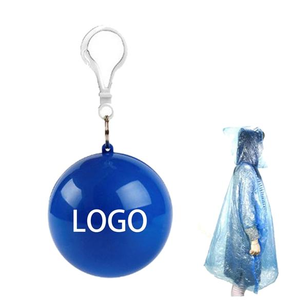 Disposable Portable Raincoats Hooked Poncho Ball