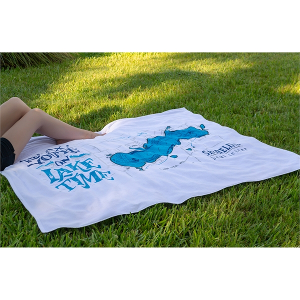 Oversized Beach Towel - White