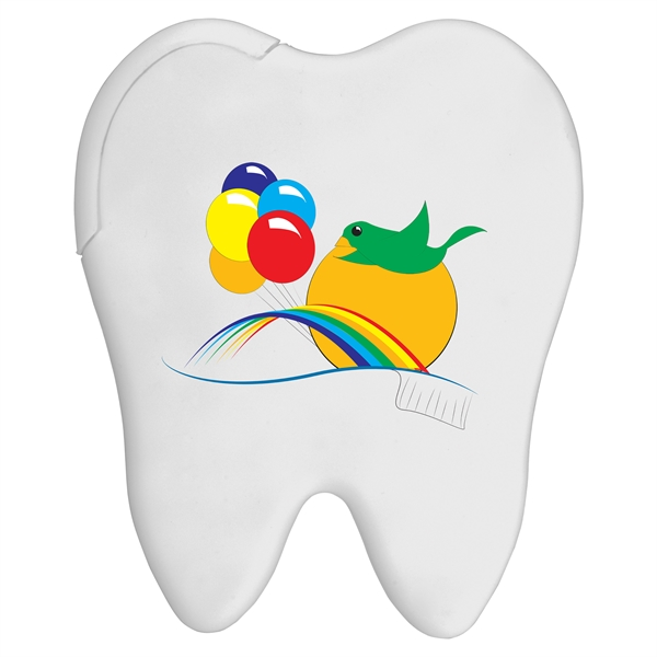 Tooth Credit Card Mints - Tooth shaped credit card sugar free peppermints.