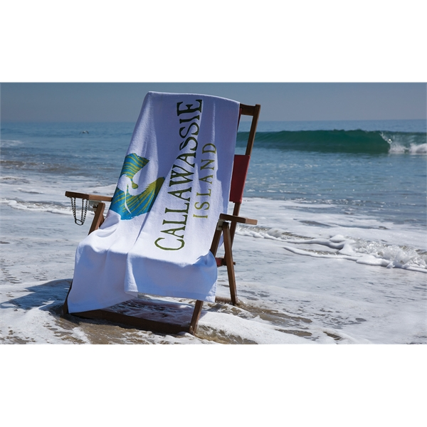 Jewel Collection Beach Towel - White