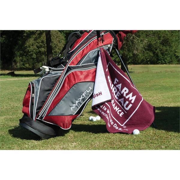 Custom Jacquard Woven Golf Towel
