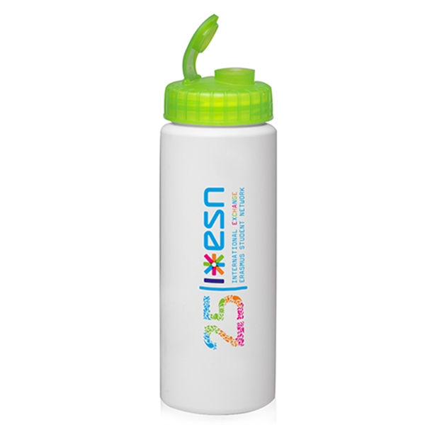 32 oz. HDPE Plastic Water Bottles with Sipper Lids